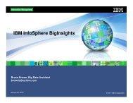 Bruce Brown - Big Insights - IBM