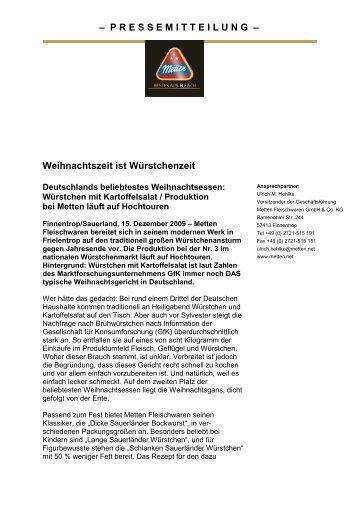 als PDF - Metten Fleischwaren