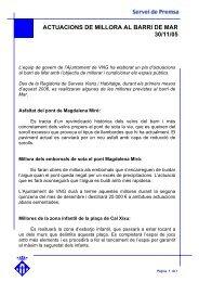 Actuacions de millora al barri de Mar - Ajuntament de Vilanova i la ...