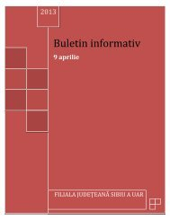 buletin informativ 9 APRILIE - UAR Sibiu
