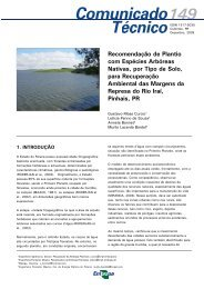 Recomendação de Plantio com Espécies Arbóreas Nativas, por ...