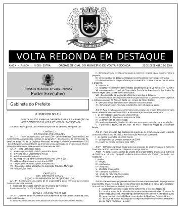 VOLTA REDONDA EM DESTAQUE - Prefeitura