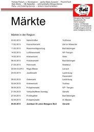 Märkte in der Region: - Metzgerei Boll