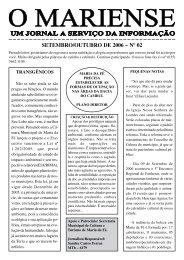 SETEMBRO/OUTUBRO DE 2006 – Nº 02 - O Mariense