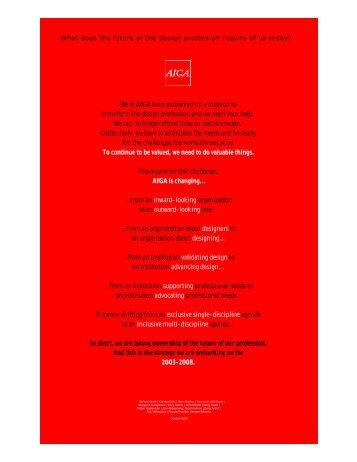 AIGA organizational strategy - American Design Council