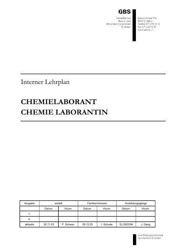 CHEMIELABORANT CHEMIE LABORANTIN