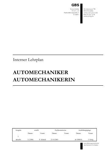 AUTOMECHANIKER AUTOMECHANIKERIN