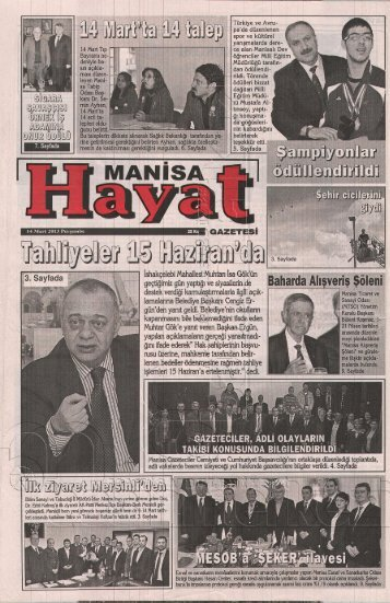 14 Mart 2013 Perşembe - Manisa Belediyesi