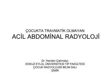 Çocukta Travmatik Olmayan Acil Abdominal Radyoloji
