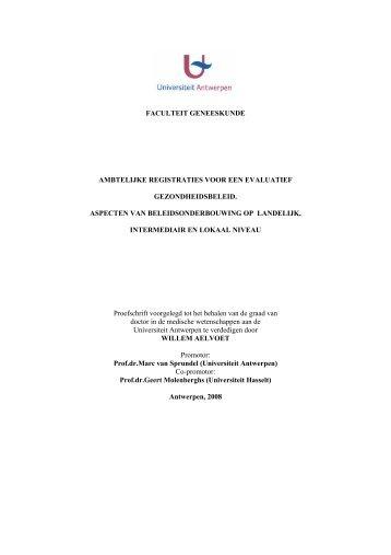 faculteit geneeskunde ambtelijke registraties voor een ... - Health.fgov.