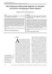 Akut Ajitasyon Tedavisinde Doğrular ve Yanlışlar: Acil Servis ...