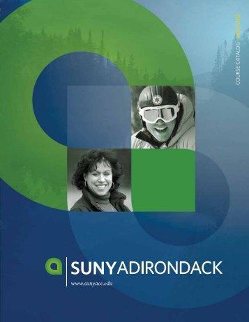 College Catalog - SUNY Adirondack