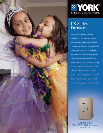 York LX Series 80% AFUE TM8T/TMLT Gas Furnaces ... - UPGNet