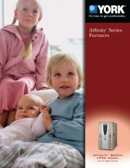 York Affinity 18+ SEER Air Conditioners from York Heating ... - UPGNet