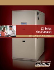 Download LX Series Gas Furnace Brochure PDF - Luxaire