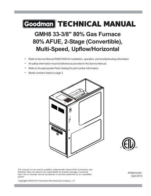 Tech Manual Goodman