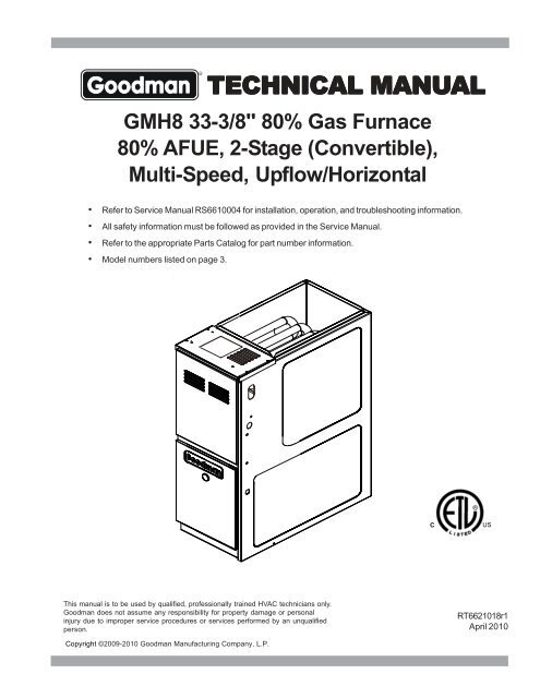 Goodman Furnace Manual Wiring Diagram from img.yumpu.com