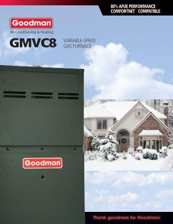 VARIABLE-SPEED GAS FURNACE 80% AFUE ... - Goodman