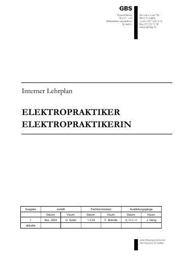 ELEKTROPRAKTIKER ELEKTROPRAKTIKERIN