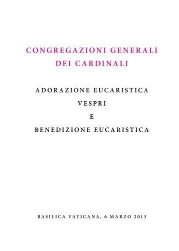 CONGREGAZIONI GENERALI DEI CARDINALI - La Santa Sede