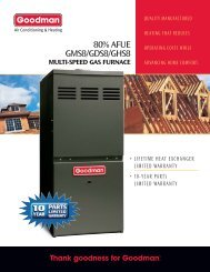 80% AFUE GMS8/GDS8/GHS8 - Vincent's Heating and Cooling