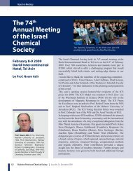 The 74th Annual Meeting of the Israel Chemical Society