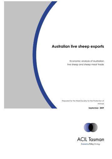 Australian live sheep exports - WSPA Humane Chain