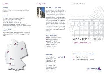 Jahresprogramm 2011 - ADDI-DATA