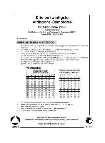 Drie-en-twintigste Afrikaans-Olimpiade - saasta
