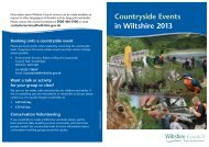 Countryside Events in Wiltshire 2013