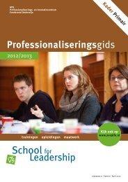 School for leadership 2012-2013 - Avs