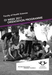 Health Orient brochure.indd - University of Johannesburg