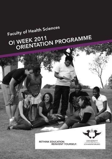 Health Orient brochure.indd - University of Johannesburg