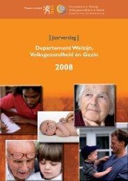 | Jaarverslag | Departement Welzijn, Volksgezondheid en Gezin