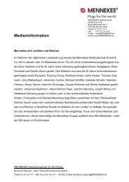 Medieninformation - Mennekes