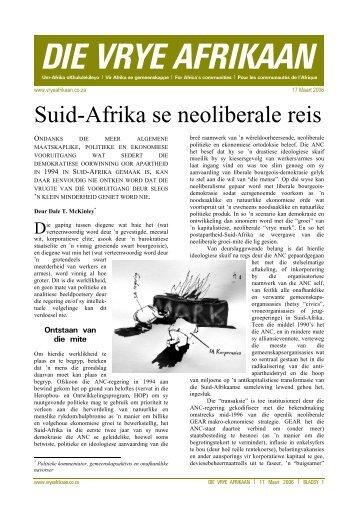 Die Vrye Afrikaan - 17 Maart 2006 - FAK