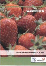 Jaarverslag Aardbeien 2009 - Inagro