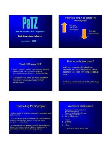 Hoe leren huisartsen ? Doelstelling PaTZ project
