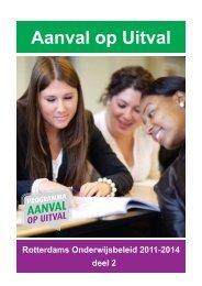 Programma Aanval op Uitval - home | onderwijsbeleid010.nl