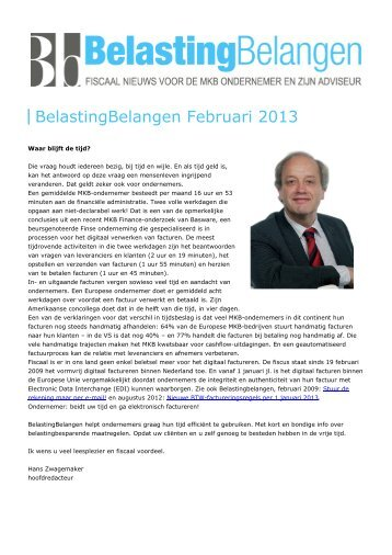 BelastingBelangen - BelastingBelangen Februari 2013