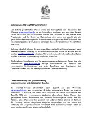Datenschutzerklärung MEOCLINIC GmbH