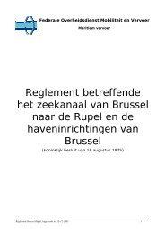 Reglement betreffende het zeekanaal van Brussel naar de Rupel en ...