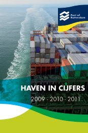 Booklet 'Haven in Cijfers' 2009-2010-2011 (2012) - Port of Rotterdam