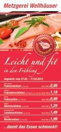 Leicht und fit - Metzgerei Wellhäuser Ravensburg