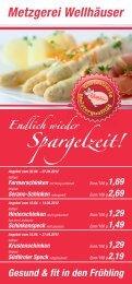 Flyer Monatsangebote Spargelzeit - Metzgerei Wellhäuser ...