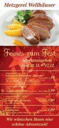 Feines zum Fest - Metzgerei Wellhäuser Ravensburg