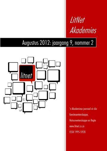 Augustus 2012: jaargang 9, nommer 2 - LitNet