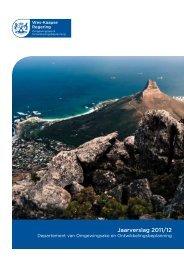 Jaarverslag 2011/12 - Western Cape Department of Environmental ...
