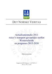 Finaal Rapport Actualisatiestudie QRA Westerschelde - VNSC ...