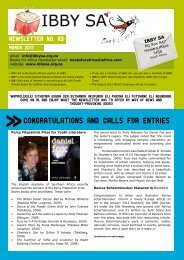 Page 1 NEWSLETTER No. 63 MARCH 2011 email: info@ibbysa.org ...